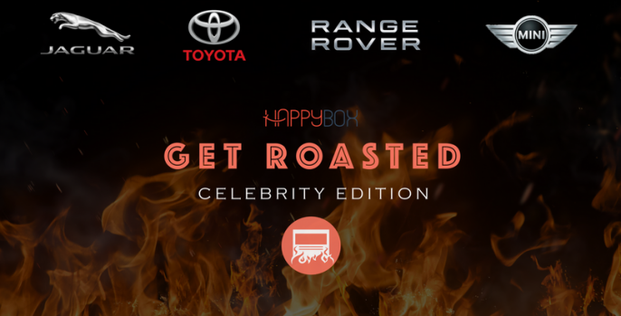 Celebrity Roasting for Jaguar, Toyota, Range Rover and Mini