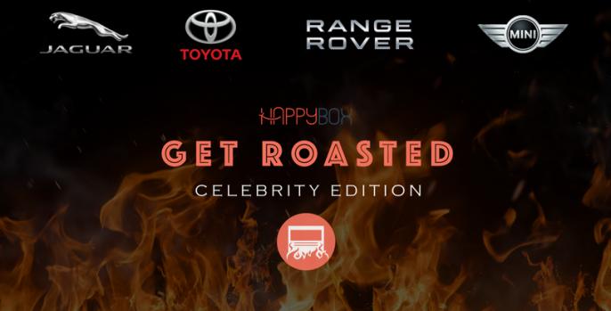 Celebrity Roasting for Jaguar, Toyota, Range Rover and Mini